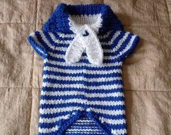 Dachshund sweater small dog  knitted dog sweater small dog jumper handmade pet coat knitted  dog jacket shih tzu coatcrochet dog dress