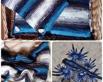 Blue dragon -crochet kitty set- knitting cat blanket- knitting cat pillow- crochet cat pillow-crochet cat blanket-pet bedding-Christams gift