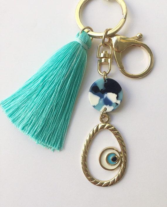 Evil Eye Keychain Protection Keychain Lucky Keychain Etsy
