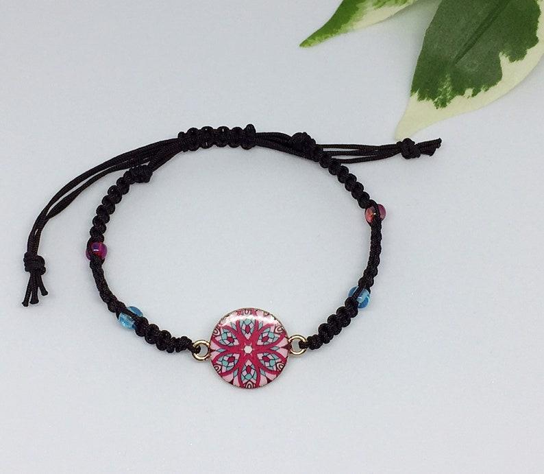 Birthday gift ideas. Secret santa gifts Yoga bracelet Christmas gifts Stocking fillers Woven friendship bracelet Gifts for women