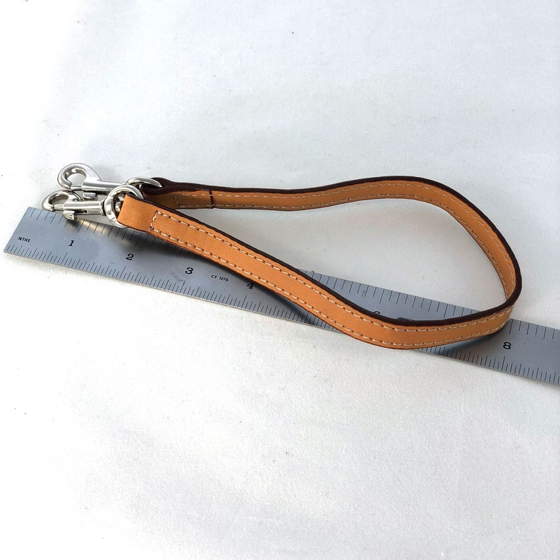 Keychain Lanyard in Natural Tan Leather 17 x 12