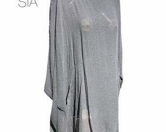 C5 Caroline Ann Lagenlook Tunic with Cowl Neck  Made in UK Plus sizes 12-40