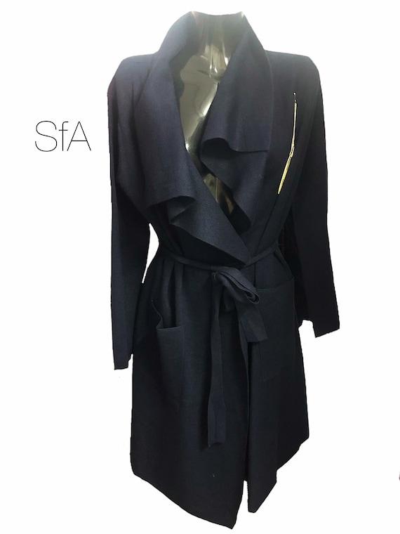 Waterfall long cardigan coat, heavy feel, soft feel. Size UK 12, 14, 16, 18. 2XL