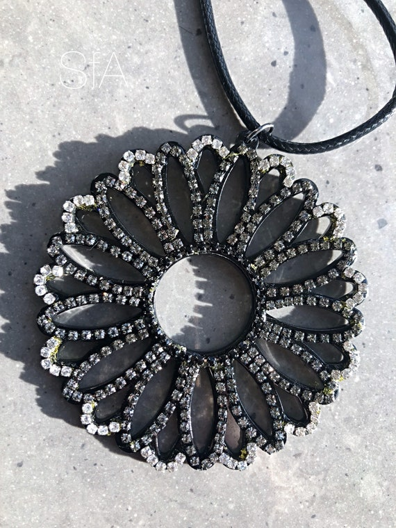 The Claudia large acrylic and crystal necklace