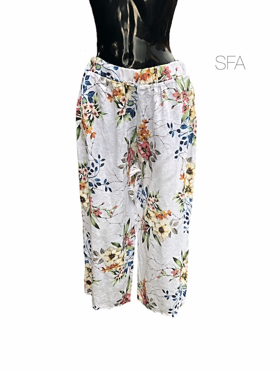 Plus size lagenlook linen trousers, pants, Size 16-22, in 4 different colours, limited stock
