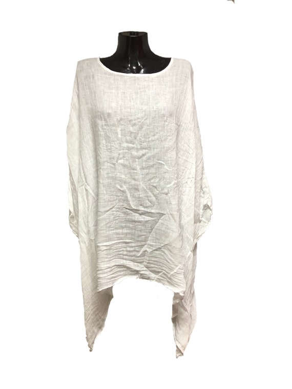 Italian, lagenlook, linen, panel top, in 3 colours, last few remaining. Bat winged, plus size floaty top. 5XL