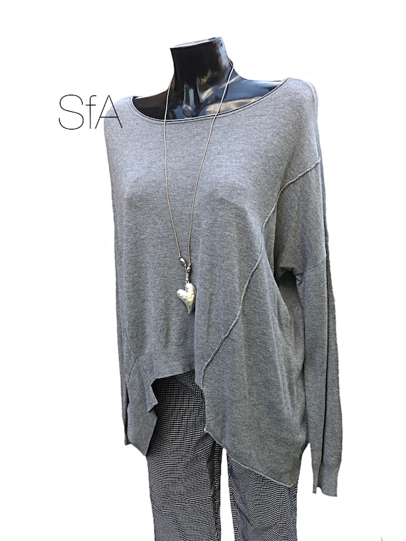 Dropped back, raised front cashmere feel jumper, sweater, in 4 colours ,XXL