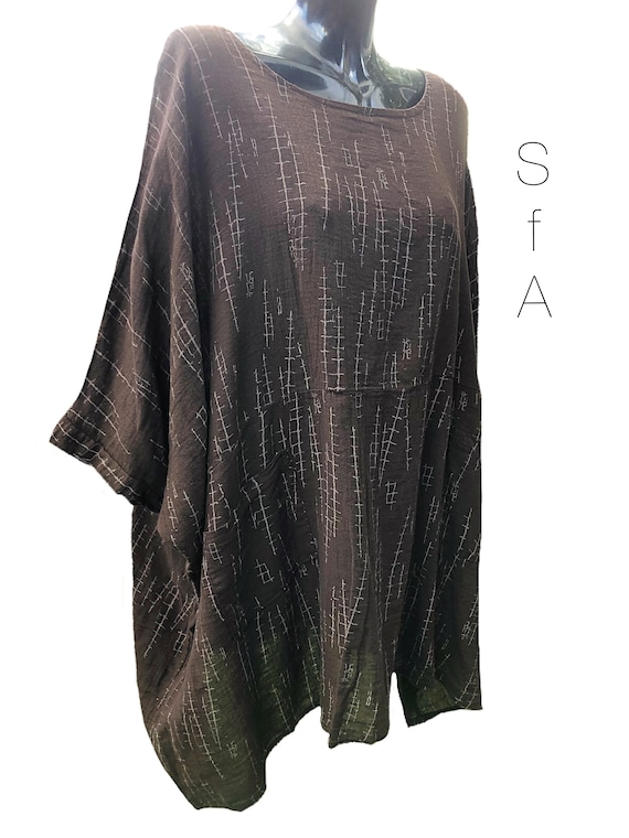 Brown Tunic, PLus SIze, with pockets. SIZE 5XL
