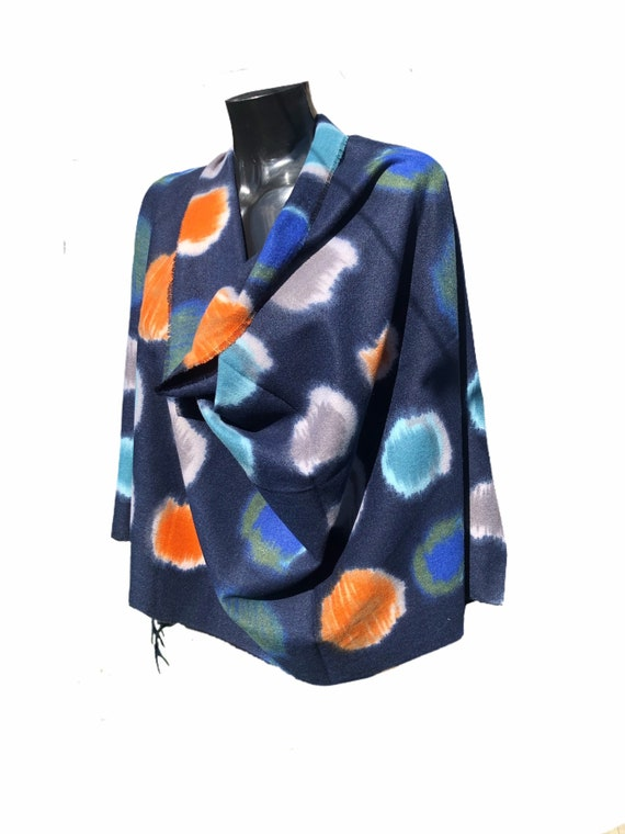 Wrap or scarf, panel, goe circle print scarf, super soft, perfect present. Fabulous long tassels.