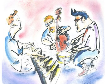 caricatures of musicians from Scotland
