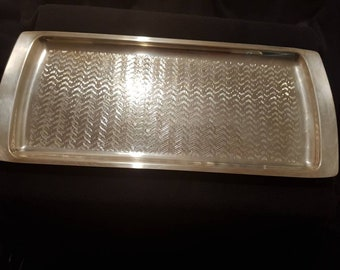 Falstaff Art Dec silver plate tray