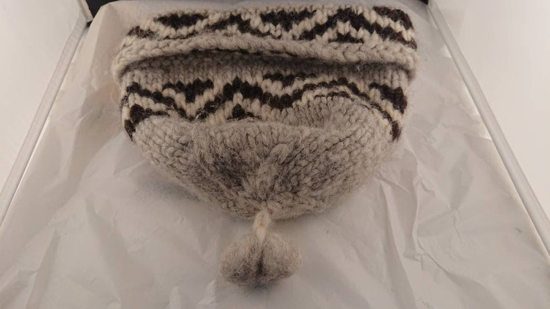 Large Men/'s Salish Style Wool Hat from the Okanagan Valley BC.