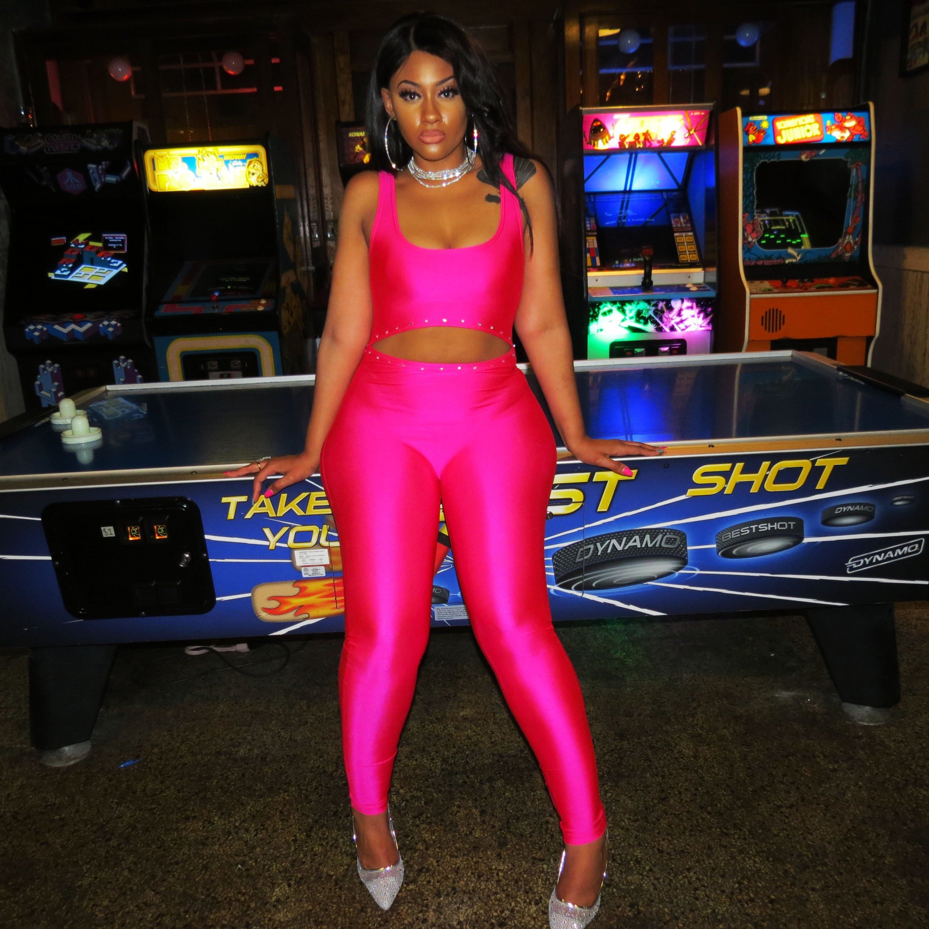 d9141689c3cd Friday Night Pink Neon Jumpsuit