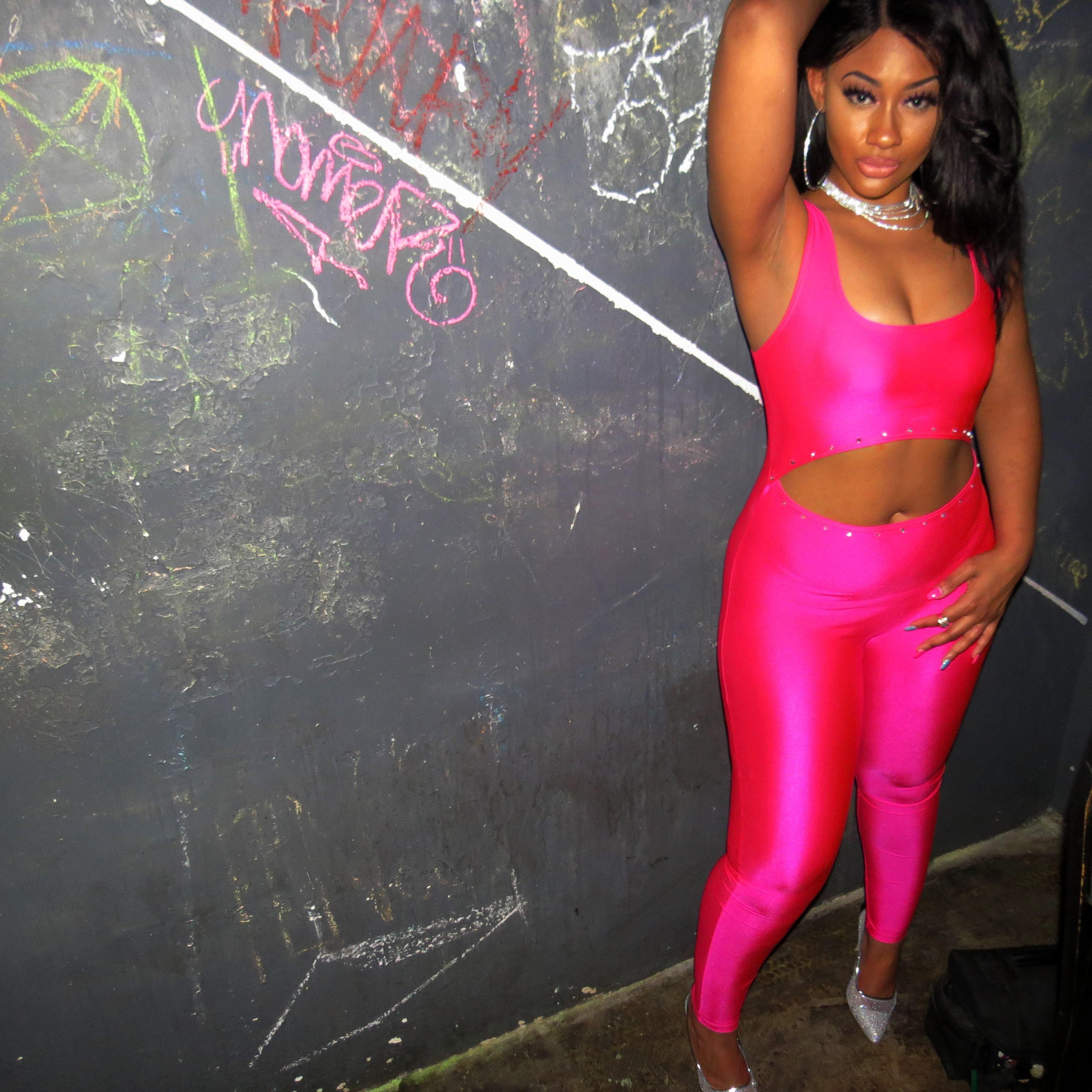 ec8aea585b9c Friday Night Pink Neon Jumpsuit. gallery photo gallery photo gallery photo  gallery photo ...