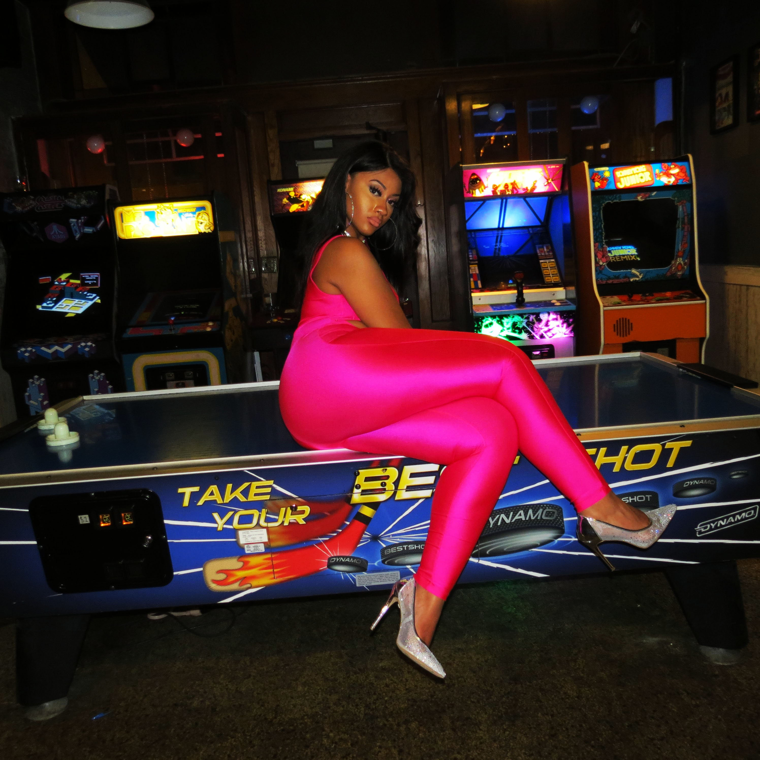 1c9243947b78 Friday Night Pink Neon Jumpsuit. gallery photo gallery photo gallery photo  gallery photo gallery photo gallery photo ...
