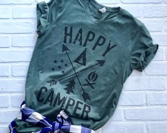 6697667895410 Happy camper shirt | Etsy