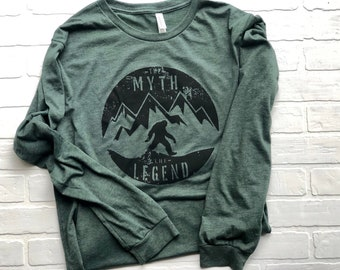 4c74be8c Bigfoot Sasquatch The myth and the Legend long sleeve shirt