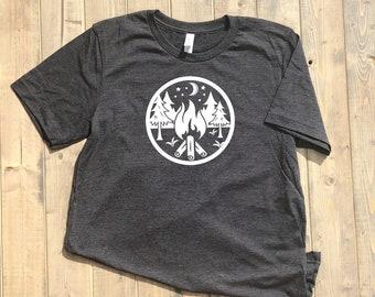 Campfire Shirt, campfire, Camping shirt, camp, mountains shirt, hiking shirt, outdoors shirt, happy camping