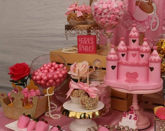princess candy table