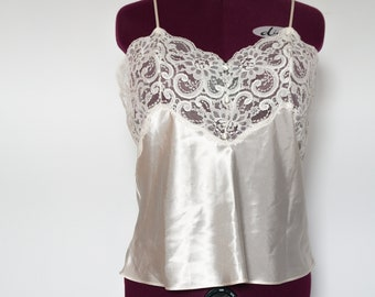 Vintage Satin Cream Cami
