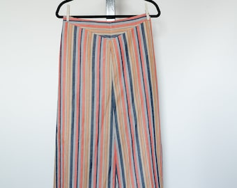 Striped Maxi A-Line Skirt
