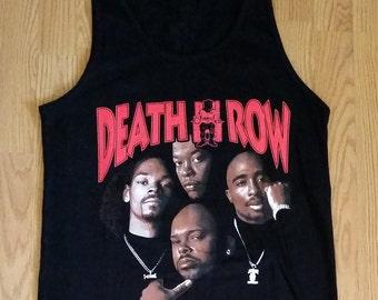 DEATH ROW - SQUAD  - Black - Men Tank/ Muscle Shirt - S- 2XL