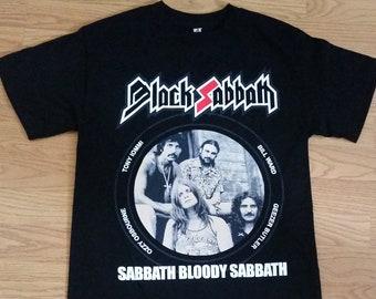 c7dca065f BLACK SABBATH† - Sabbath Bloody Sabbath - Group Picture Logo - Black-  Unisex Adult T-shirt - S- 3XL