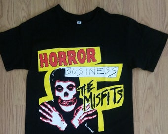 86052adb96b9f MISFITS† - Horror Bussiness The Misfits - Black - Unisex Adult T-SHIRT - S-  3XL