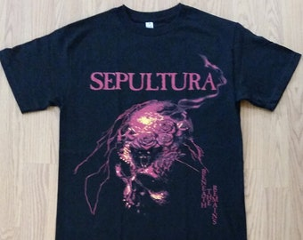 5209bd9c SEPULTURA† - BENEATH The REMAINS - Red Letters - Black - Unisex Adult Tshirt  - S- 3XL