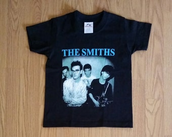 fce0f562 THE SMITHS† - KiDS - Blue Letters Logo - Black Unisex Tshirt - Xs- Xl