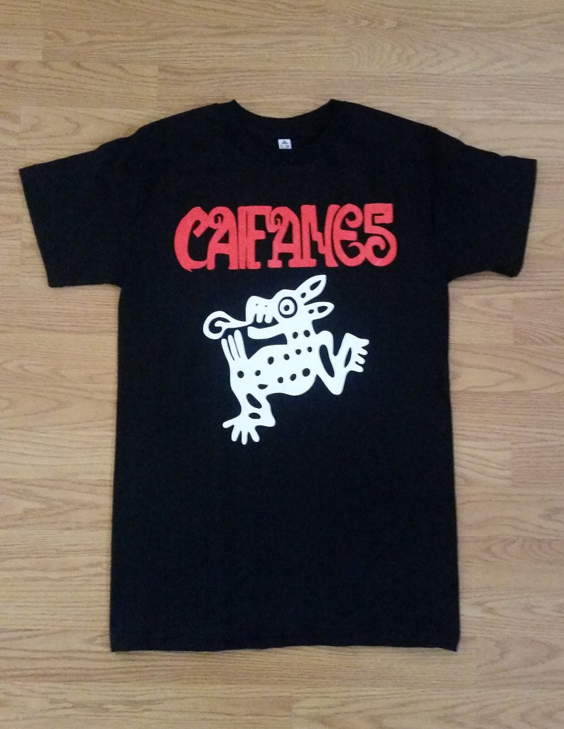 39797995 CAIFANES Red Letters Black Unisex Adult Tshirt S 2XL | Etsy