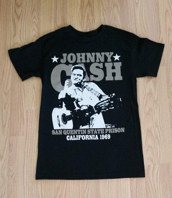 b18f9aff388f3 JOHNNY CASH CALIFORNIA 1969 Black Unisex Adult T-shirt