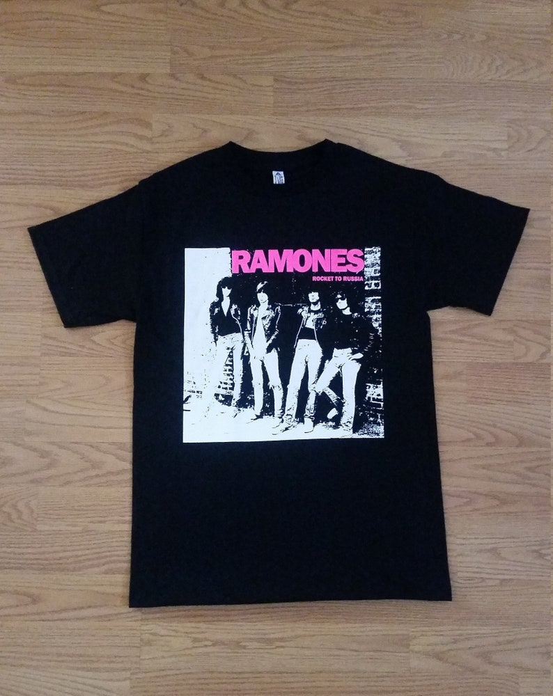 95c92a6d RAMONES Rocket To Russia Pink Letters Black Unisex | Etsy