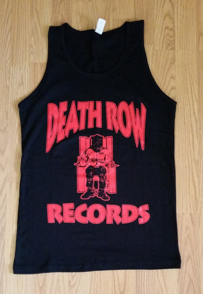 5ef994aa DEATH ROW RECORDS Black Adult Men Tank/ Muscle Shirt | Etsy