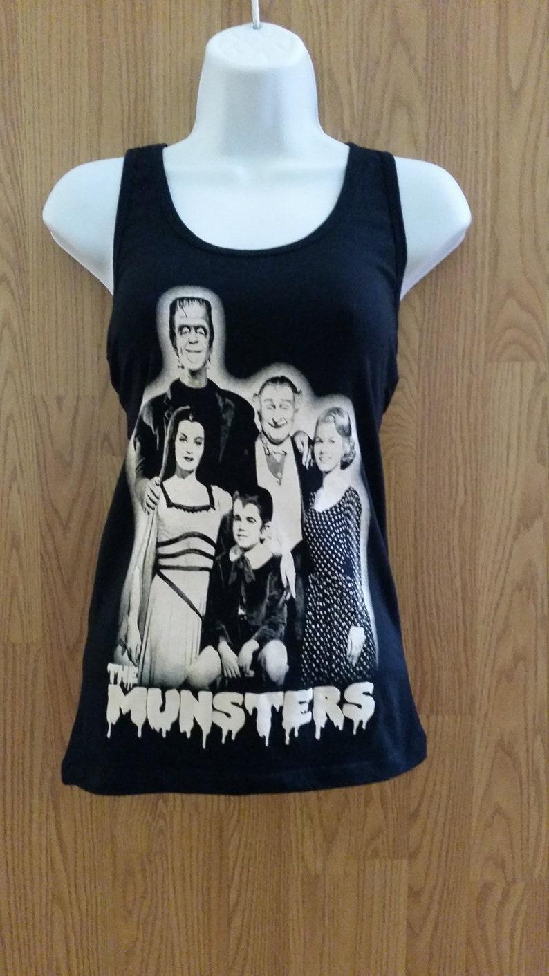 0d8e9b4fccfa0 THE MUNSTERS Black WOMEN S Tank Top shirt S xL