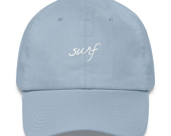 purchase cheap 32c18 51d60 Surf Dad Hat Colors Dad Hat   Baseball Cap Hat Dad Cap Embroidered Hat High  Quality Surfing Hats for Surfers Gifts for Surfers Pink Blue