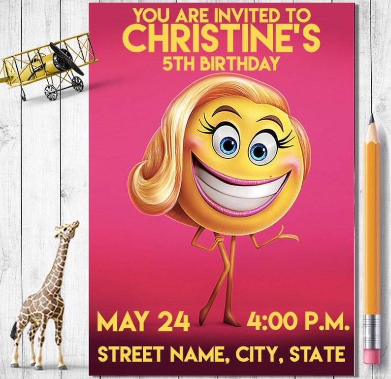 Emoji Movie Birthday Invitation Digital