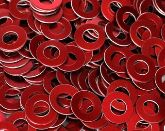 50 Anodized Aluminum Washers; Chainmail Jewelry Supplies, Aluminum Stamping Blanks, Supplies for Jewelry