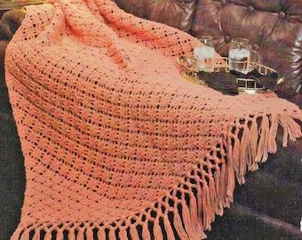 Afghan Crochet Pattern, Diagnal Diamonds Crochet Afghan Pattern, Simple Crochet Pattern, INSTANT Download Pattern PDF (1030)