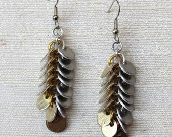 Fish Scale Earrings Kit - Earrings Pattern Chain Mail Tutorial Chainmail Earrings