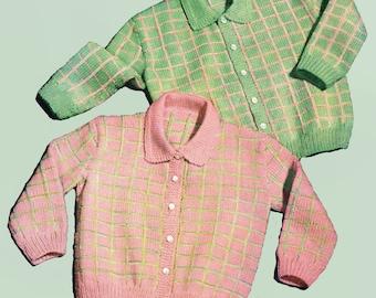 Knitting Pattern, Baby Cardigan Sweater Knitting Pattern, 3 Ply Baby Knitting Pattern, INSTANT Download Pattern PDF (2317)