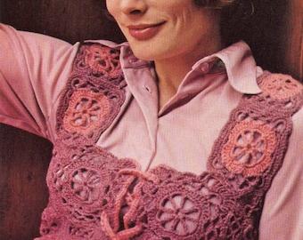 Crochet Pattern, Womens Crochet Vest Pattern, Crochet Top Pattern, Crochet Clothing Pattern, INSTANT Downloadable Pattern in PDF (1103)