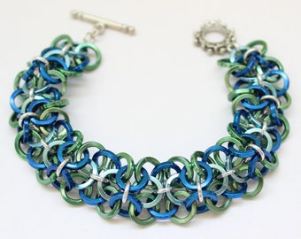 Chainmail Bracelet Pattern PDF Download - Ocean Waves Chainmaille Bracelet INSTRUCTIONS ONLY