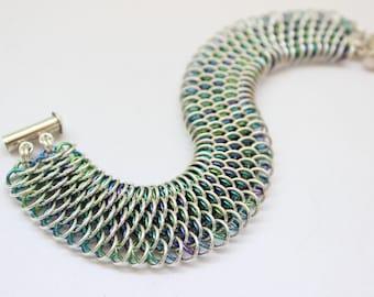 Sterling Silver Dragonscale Bracelet Kit - Chainmail Bracelet Kit