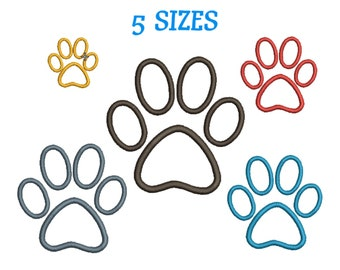 608339a56990 Embroidery design Paw Print Machine Embroidery Dog Paw Design Embroidery Paw  Animal Machine Embroidery Paw print Pattern INSTANT DOWNLOAD