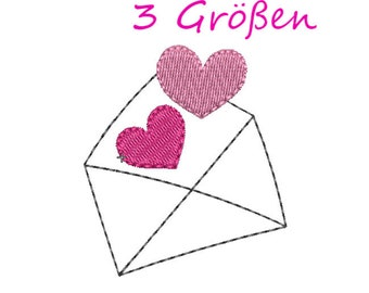 bf1999ad9e Heart Embroidery Design. Stickdatei. Stickmuster. Hochzeit