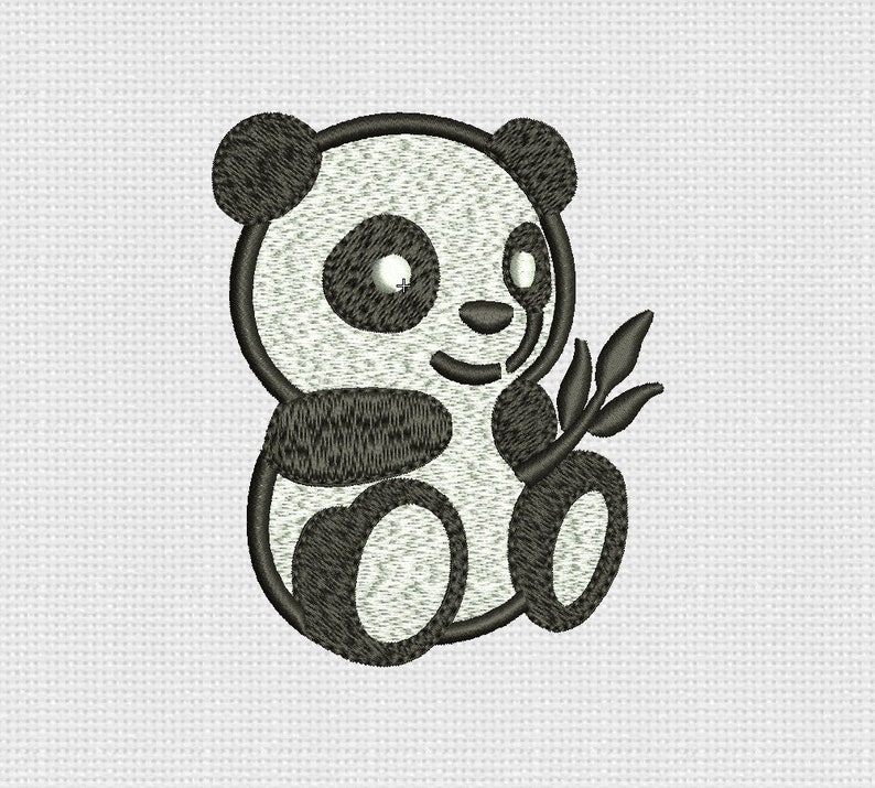 23896ce03aa Embroidery Design Panda Baby Bear Embroidery Pattern