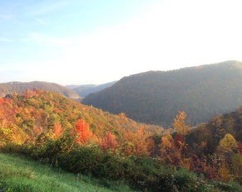 Nature Art Photograph Fall Morning Landscape 3 (Morgantown, WV, 2016)
