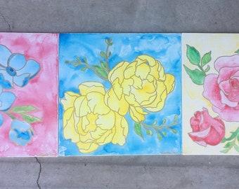 Flower Trio