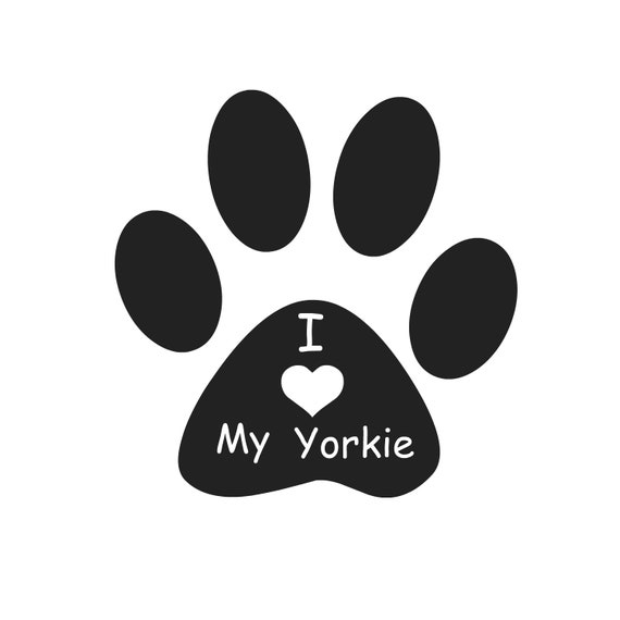 I Love My Yorkie Svg File Png File Jpg Downloadable File Etsy